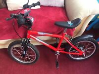 boys bike immac condition like new red small mark on saddle
