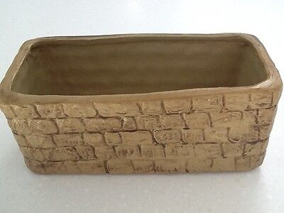 "vintage stoneware planter- approx 9.5 x 4.5""."