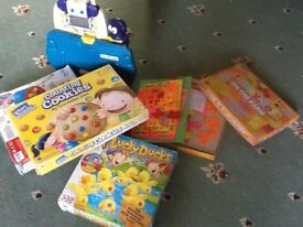 Collection of 5 kids games, good condition, age 3+