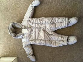Brand new baby girls snowsuit from Boots 3-6 months