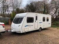 2009 Lunar Freelander 585 SI 4 Berth caravan FIXED ISLAND BED Awning VGC, Bargain !