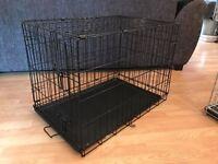 Black Single door Dog Crate