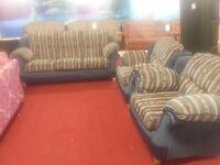 3 piece striped fabric suite