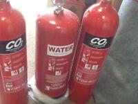3 X FIRE EXTINGUISHERS