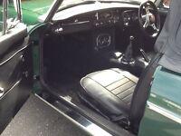 1969 mgb in British racing green
