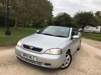 Vauxhall astra 1,6 convertible full black leather seats