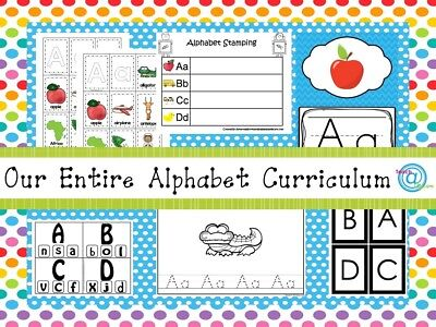 Our Entire Preschool Alphabet Curriculum on a USB Flash Drive. Prints 1500+ pgs.