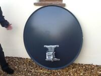 Satellite Dish and LNB . Primesat 1m Lightweight Aluminium. Ideal f