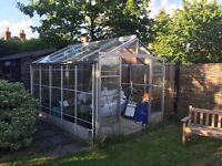 Green house 2.2m X 3.2m. Good condition. Double doors. Two automatically opening roof windows