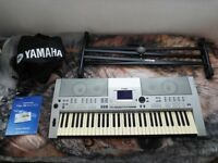 Yamaha PSR-S500 Keyboard with AC Adapter, stand, songbook rest, dust cover and manual