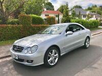 2006 56 Plate Mercedes Benz CLK 200 Kompressor 73000 Low Mileage FSH July 18 MOT Avantgarde Auto