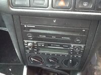 Vw golf standard twin stereo with codes