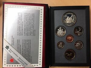 1989 Vintage Royal Canada Mint Proof  Coin Set - $1 50% Silver