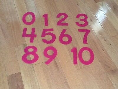 Used, Felt Numbers Teacher Math Center Resource Homeschool ABeka K4 K5 Counting Pink for sale  King