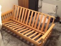 Double solid Pine Sofa Bed