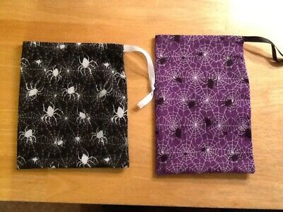 Halloween Teachers Resources (2 Halloween Spider Drawstring bags - teacher resource/storage/ gift)