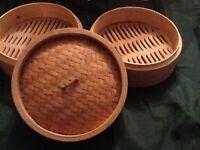 Wooden Chinese steamer kit