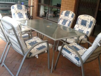 7 piece outdoor furniture setting Greystanes Parramatta Area Preview