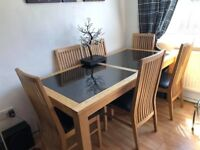 Solid Wood Dining Table & Chairs