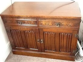 Beautifully carved solid oak bfw sideboard