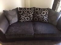 Grey and black sofa 2 and 3 great condition