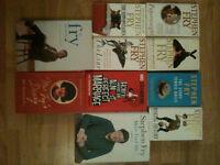 10 Stephen Fry Books - Autobiographies & Fiction - Liar, More Fool Me, etc