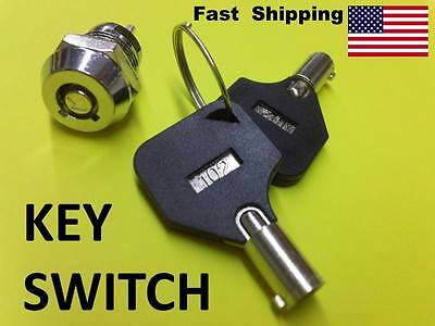 Mini Key Ignition Switch Onoff Lock Switch Key - 12mm - 2 Wire Install Barrel
