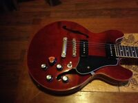 Epiphone 339 pro with new nut and tone pots