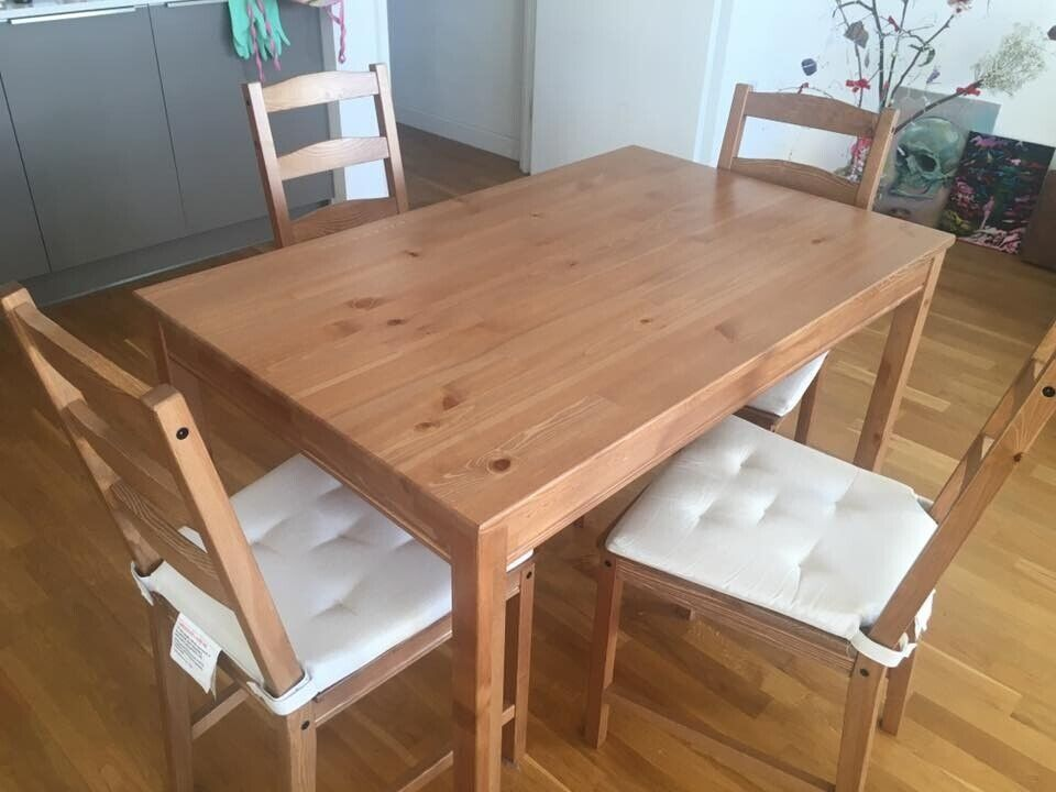 Pleasant Ikea Table Set With 4 Chairs Including Chair Cushions Jokkmokk In London Gumtree Beutiful Home Inspiration Aditmahrainfo