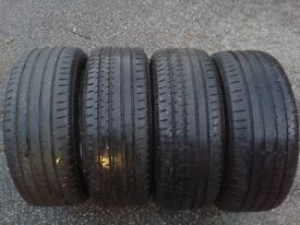 4 X CONTINENTAL SPORTCONTACT 225/50/17(98Y) TYRES AUDI VW MERCEDES