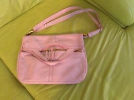 Pink Fossil handbag and 2 purses