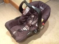 First size baby car seats for newborn upto 13kg-several available-all washed and cleaned
