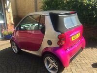 Pink Smart Fortwo Passion Convertible