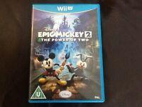 Wii U Disney Epic Mickey 2 Game