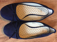 Navy Blue shoes worn once