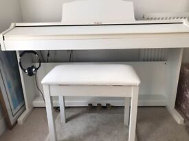 ROLAND RP401R WHITE DIGITAL PIANO 88 KEYS 3 PEDALS WITH FREE STOOL & HEADSET