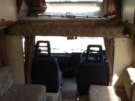 Fiat Ducato Hymer motor home. Rt. Hand drive. Diesel. 4 berth. 12 months MOT. Genuine 12 months MOT.