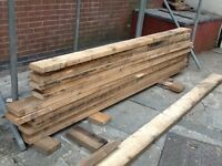 Reclaimed 6x2 timber joists 7 at 2.85 metres 6 at 2.65 meters long