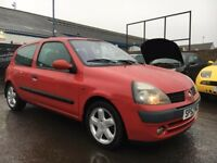 Renault Clio 1.2 16v dynamique, 52 plate 2002, 110k miles with s.h 4 stamps including timing belt!!