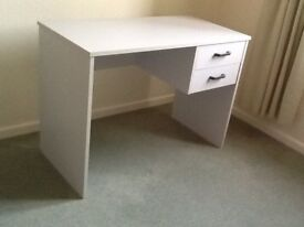 Small desk and compact filing cabinet
