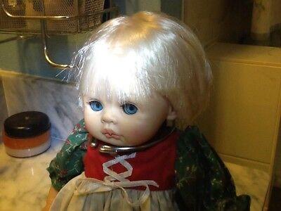Vintage Pauline doll -all original; dressed in German dirndl