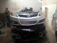 VAUXHALL VECTRA C FACELIFT FRONT BUMPER SILVER