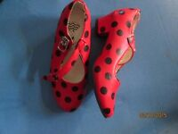 spanish lady or ladybird shoes size 26 euro 8 uk also have dress for sale