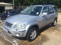 ** NEWTON CARS ** 01 Y HONDA CRV 2.0 ESTATE, GOOD COND, LEATHER, ALLOYS, MOT JAN 2017, P/EX POSS