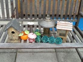 Bird Feeders and Nesting Box
