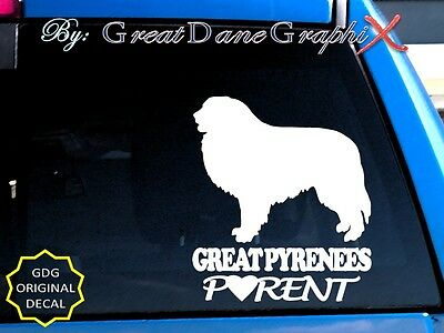 Great Pyrenees Parent S    Vinyl Decal Sticker   Color Choice   High Quality