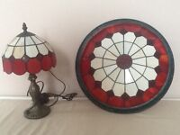 Tiffany style lamp and uplighter, excellent quality.