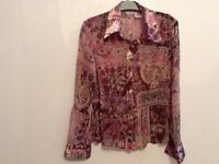 Ladies blouse by no boundaries, size L, multi. Very elegant blouse ideal for an evening out.