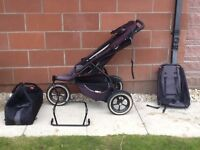 Phil and teds sport buggy complete with cocoon, extra seat and frame for car seat
