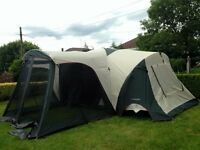 Massive 8 berth tent large living area and large porch